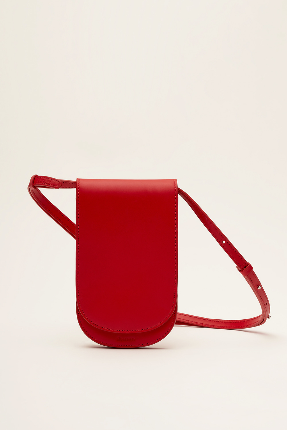 Flat Bag in Berry Red